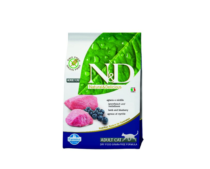 N&D Grain Free CAT Adult Lamb & Blueberry 300g
