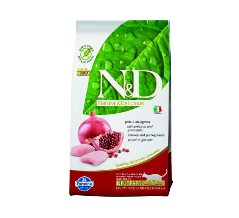 N&D Grain Free CAT Neutered Chicken&Pomegranate 1,5kg