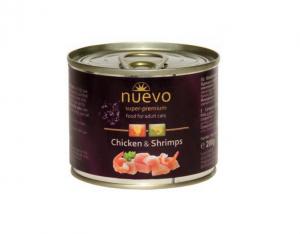 Nuevo Adult kuře a krevety - konzerva pro kočky 200g