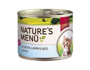 Schmusy Nature Menu Kitten losos a jehně - konzerva 190g