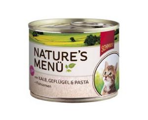 Schmusy Nature Menu Kitten telecí a drůbež - konzerva 190g