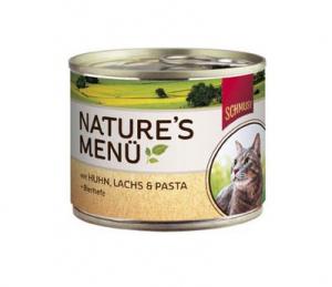 Schmusy Nature Menu kuře a losos - konzerva 190g