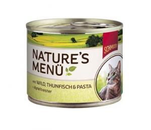 Schmusy Nature Menu zvěřina a tuňák - konzerva 190g